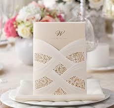 Hot Selling Wedding Invitations Cards Personalized White Red Wedding