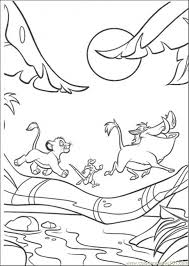 Small Picture Walking Under The Moon Coloring Page Free The Lion King Coloring