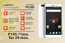 myphone myphone my95 dtv quad core cpu 1gb ram and 700mhz lte for php4