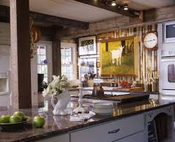 This Kitchen Has An Eclectic French Country Kitchen The Natural Wood