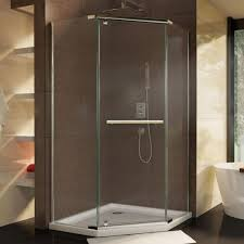 dreamline prism 36 1 8 in x 72 semi frameless neo angle pivot bathrooms design small shower stalls home depot tub to conversion kit showers door