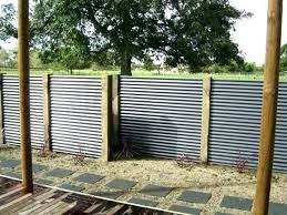 wood and corrugated metal fence ideas panel iron panels fencing regarding prepare