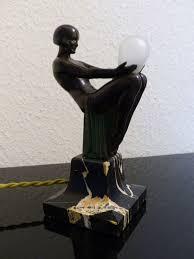 art deco lamp. Max Le Verrier - Art Deco Lamp \u0027Songe\u0027
