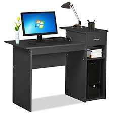 furniture home office small home. Topeakmart Black Compact Computer Desk With Drawer And Shelf Small Spaces Home  Office Furniture Furniture Home Office Small A