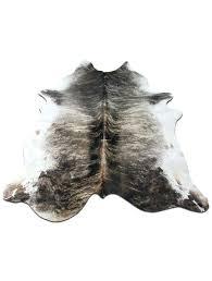 brindle cowhide rug gray