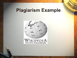 plagiarism powerpoint presentation  6 plagiarism example