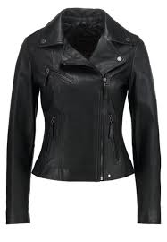 oakwood leather jacket noir women clothing jackets big on