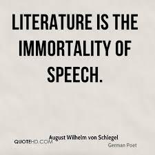 Literature Quotes Interesting August Wilhelm Von Schlegel Quotes QuoteHD