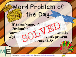 detailed solution for word problem of the day mathedge