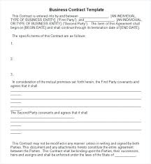 Written Agreement Between Two People Template Writing Contract ...