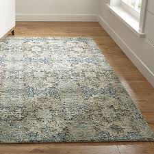 Crate and Barrel Exclusive. Alvarez Mineral Blue Hand Tufted Rug