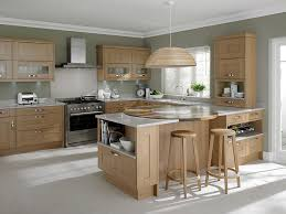 good looking kitchen colors with light wood cabinets and grey floor