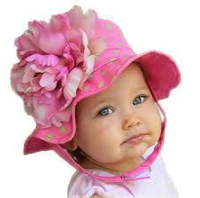 girls baby photos pink and green dots peony girls baby sun hat featured girls
