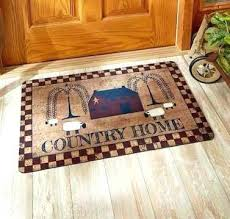 rustic cabin kitchen rugs also awesome best area for plus luxury country themed mat indoor outdoor