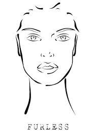 makeup face template open eyes