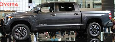 2018 toyota tundra trd sport. delighful trd gray 2018 toyota tundra trd sport side exterior on stage after 2017  chicago auto show debut on toyota tundra trd sport