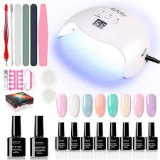 gel nail polish kit with uv light 48w