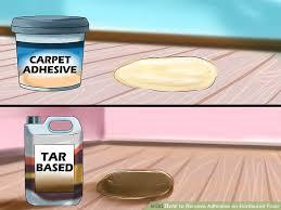 image led remove adhesive on hardwood floor step 8