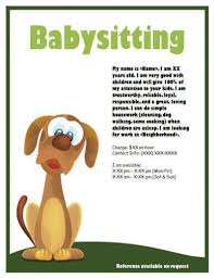 How To Be A Good Baby Sitter Babysitting Flyers And Ideas 16 Free Templates
