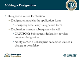 Beneficiary Release Form Awesome Beneficiary Designations Why When And How Presented By Martin R