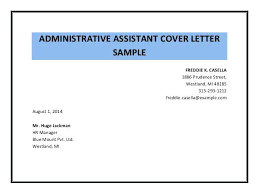 Collection Of Solutions Examples Of Administrative Cover Letters
