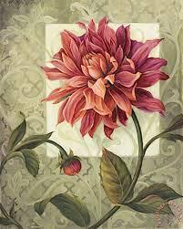 trellised dahlia painting lisa audit trellised dahlia art print