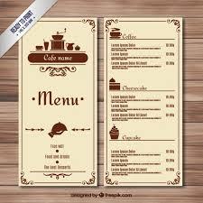 Retro Cafe Menu Vector Free Download