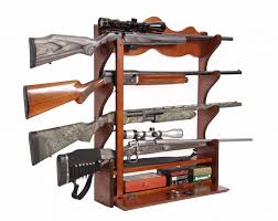 interior wall rack shot wood cabinet display locking bar ammo appealing storage systems mounted