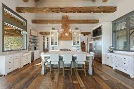 Large Farmhouse Kitchen With Great Cabinet Layout Interior Design Kitchen Country Kitchen Modern Farmhouse Kitchens