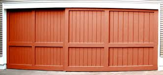 sliding garage doorsLarge sliding garage door  Nonwarping patented honeycomb panels