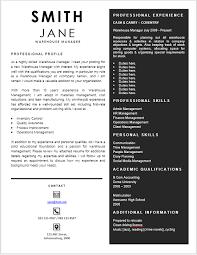 Management Cv Warehouse Manager Curriculum Vitae