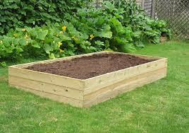 8ft x 4ft wooden raised bed kit