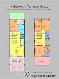 10 bedroom house plans. Rumah Teres 4 Bilik Tidur 170 Meter Persegi 10 Bedroom House Plans
