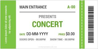 concert ticket maker concert ticket templates for ms word formal word templates
