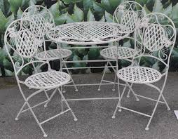 white iron outdoor furniture. Plain Outdoor Attractive White Wrought Iron Patio Furniture Outdoor Decor Images  Inside G