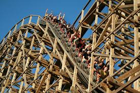 wooden rollar coaster