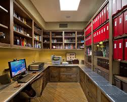 industrial office decor. Industrial Office Decor Home Contemporary With Built-in Bookcase Leather Desk C B
