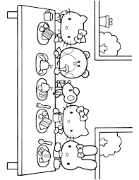 Free Printable Hello Kitty Coloring Pages Birthday Balloons Hello