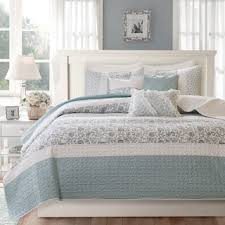 Quilts & Bedspreads For Less | Overstock.com & Madison Park Vanessa Blue Cotton Quilted 6-piece Coverlet Set Adamdwight.com