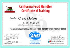 i got my california food handlers