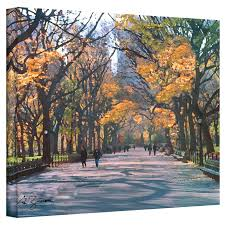 central park painting print on canvas