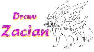 Draw and Coloring the Zacian in Pokemon Sword and Shield - Vẽ và tô màu con  Zacian