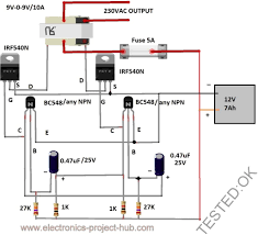 mos fet inverter circuit diagram as well power inverter circuit simple 12v to 230vac inverter circuit mosfet diy electronics mos fet inverter circuit diagram as well power inverter circuit