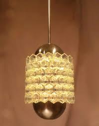Cliff Hersh Lighting Glass Led Lighting Interlocking Glass Hexagonal Cups Around