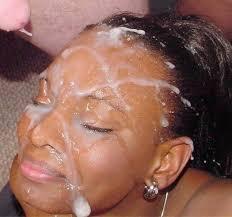 Ebony girl with facial