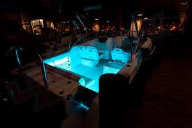 light blue side this boat lighting