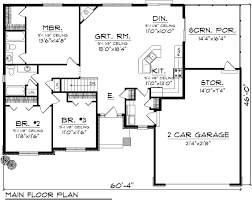Small Country Ranch Style House Plan SG1681 Sq Ft  Affordable House Plans Ranch
