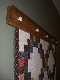 Wall Quilt Rack - 3 ft Black Walnut | Quilt Display | Pinterest ... & Quilt Holders for the Wall | Items similar to Wall-hanging Quilt Rack /  Quilt Adamdwight.com