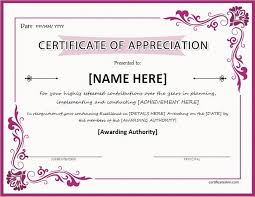 Certificate Of Excellence Template Word Certificates of Appreciation Templates for WORD Professional 94