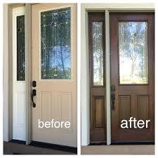 fiberglass door stain kit my fiberglass front door had wood grain so i decided to use fiberglass door stain